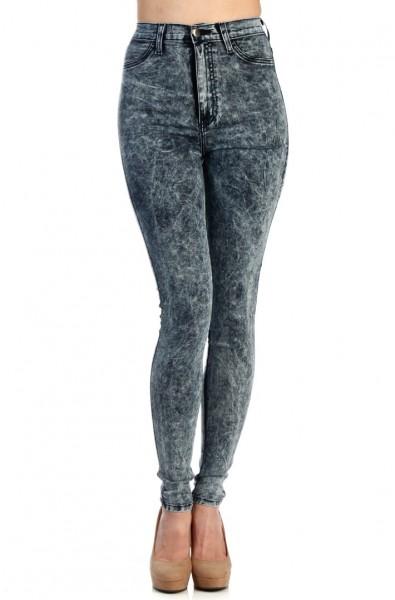 un jean taille haute